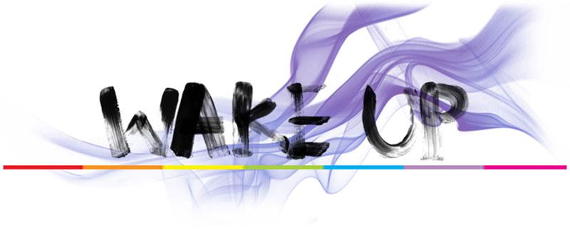 Wake up graphic